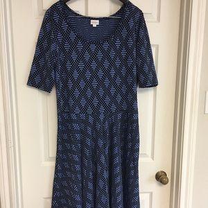 LuLaRoe Nicole Dress NWOT Geometric Stripes Dots